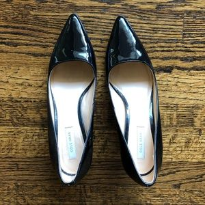 Cole Haan Pointed Toe Black Patent Leather Pump
